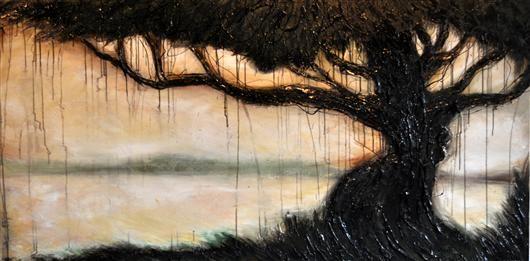 Orange Art Gallery - Julie Berthelot - The Shade; Purchase Online;. Art. Painting. Tree. Urban Nature