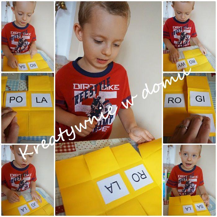 nauka czytania, czytanie sylabami, sylaby, zabawy w czytanie
