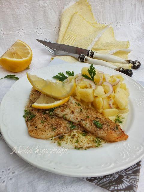Aleda konyhája: Petrezselymes vajban sült halszeletek
