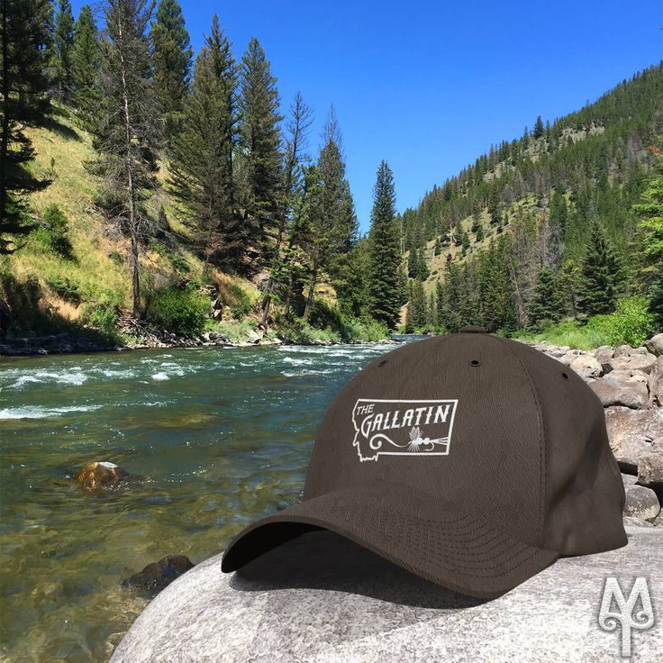 Gallatin River baseball caps by Montana Treasures...Spring and summer are just around the corner. Have you made your plans to fly fish the Gallatin River yet? Perhaps, you need to purchase a bit of a reminder that you'll eventually be wearing out on the river.
