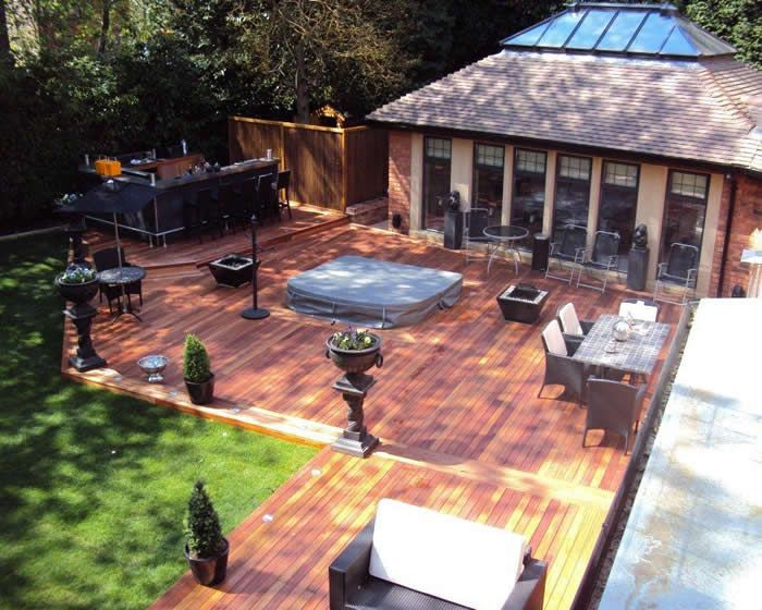 Q-Deck Lyptus Hardwood deck, Sutton Coldfield.