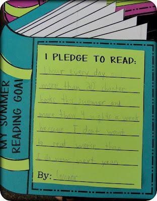 Summer reading goals: Reading Pledg, Reading Goals, Back To Schools, 2Nd Grades, Summer Reading, My Friends, Schools Bulletin, Reading Activities, Kids Reading