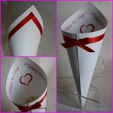Petals cone. (Don't use rice... Save the pigeons!) - Just the idea, no template. X