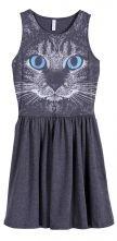 Grey cat face dress. Show ur pet pride!!  If they had Golden retriever  version, i'd so wear it!!