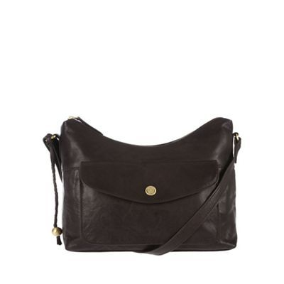 Conkca London Vintage brown 'Angel' tumbled cross-body bag | Debenhams