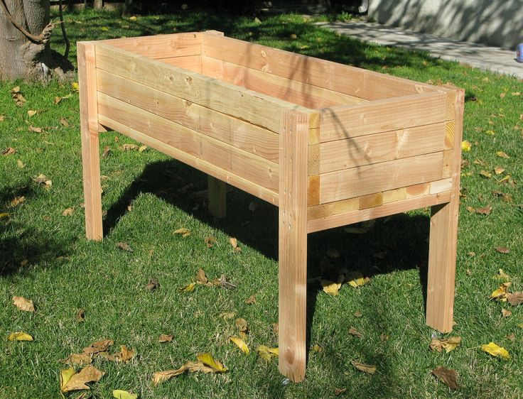 Raised Wood Planter Box Plans Woodworking Projects Plans