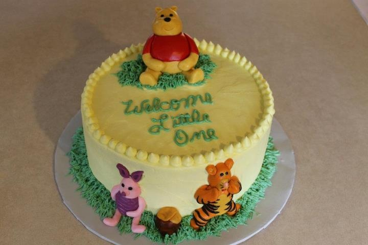 winnie the pooh baby shower cake pooh bear pinterest