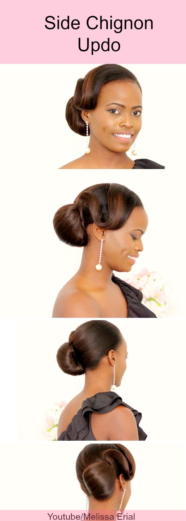 Side Chignon updo inspired by #tyrabanks