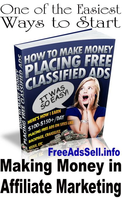 learn how to make money online for free by posting tiny ads on free classified ad