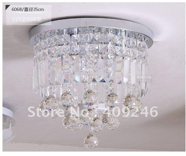6068 350 мм новый бесплатная доставка высокое качество пышное заподлицо с оценкой K9 кристалл, Люстра, Стеклянная лампа, 110 В, 220 В