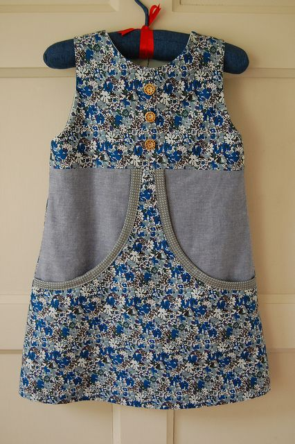 Blue Liberty Van Katoen Dress