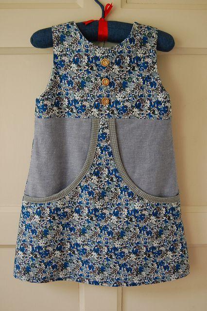 Blue Liberty Van Katoen Dress