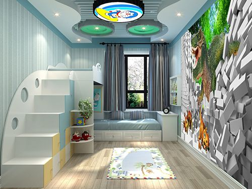 tapisserie papier peint poster g ant d coration murale 3d chambre d 39 enfant dinosaure chambres. Black Bedroom Furniture Sets. Home Design Ideas
