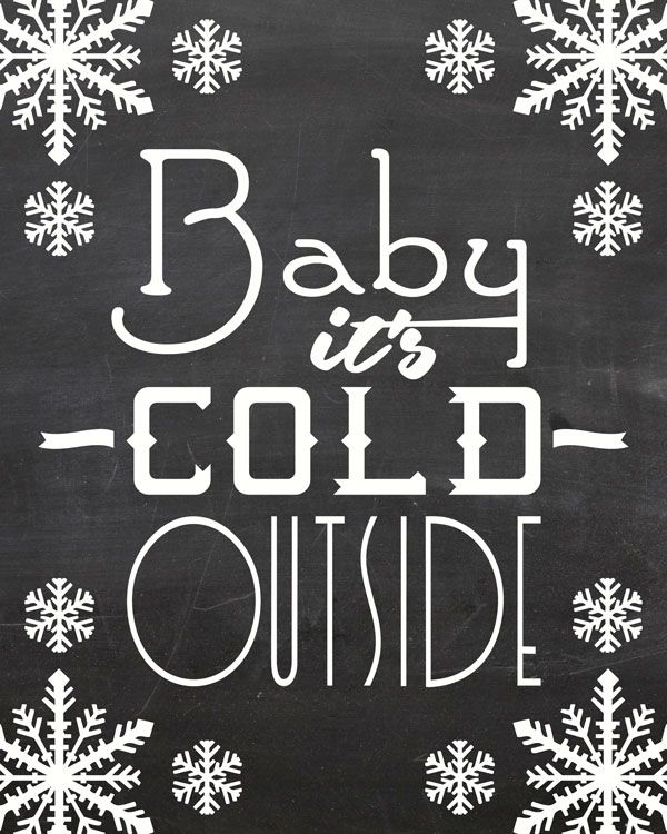 Free Printable: Baby it's cold outside