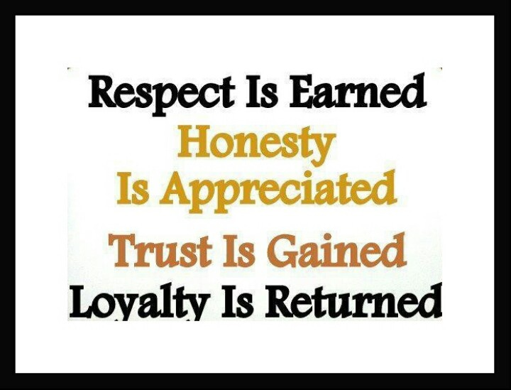 #Respect #Honesty #Trust #Loyalty | Quotes - Favorite ...