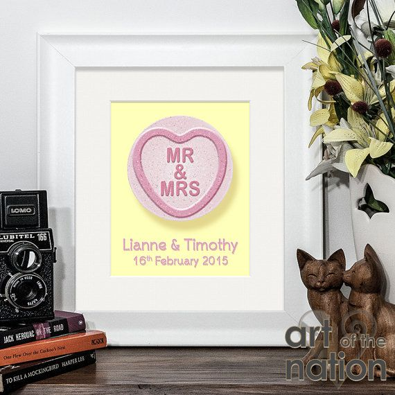 Personalised Love Heart Sweets Sweethearts by ArtoftheNation