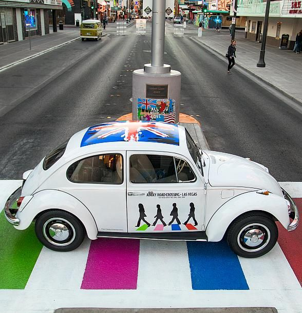"Paul Casey Productions is producing ""Meet The Beetles Car Show"" in downtown Fremont East Entertainment District. The event specifically for fans of The Beatles, 50th Anniversary Celebration in Las Vegas (Photo credit: Eric Arnold)."