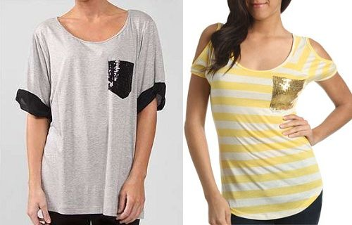 мастер класс Как украсить футболку пайетками своими руками, пришить карман из пайеток