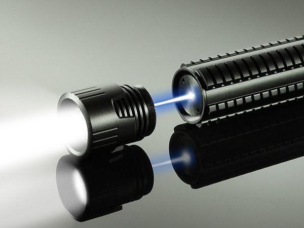 Phosforce laser flashlight can illuminate or incinerate!