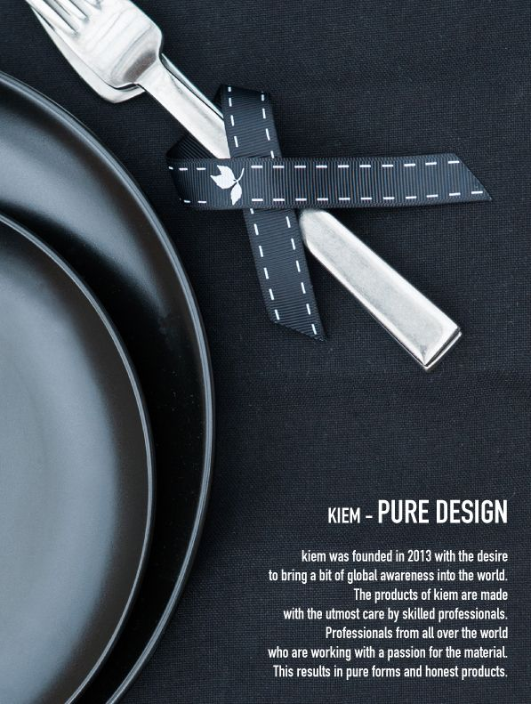 Kiem - Pure Design. Graphic and with an eye for the surroundings. Global design.   www.kiem-wayoflife.com