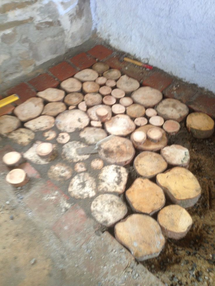 First Type Cordwood Floor Cordwood Construction