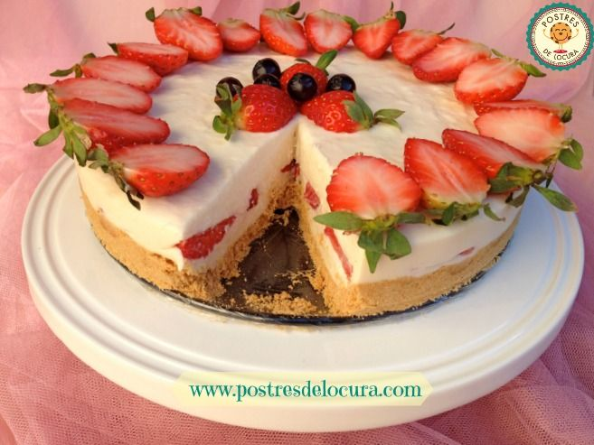 Tarta de queso y chocolate blanco sin horno. No bake white chocolate cheesecake.