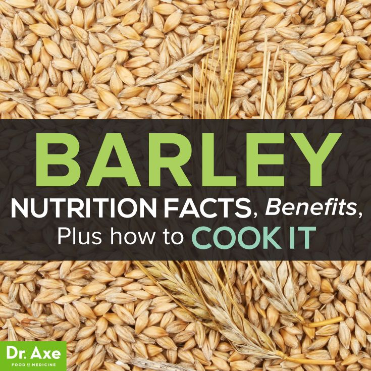 Barley Nutrition Facts Health Benefits Title