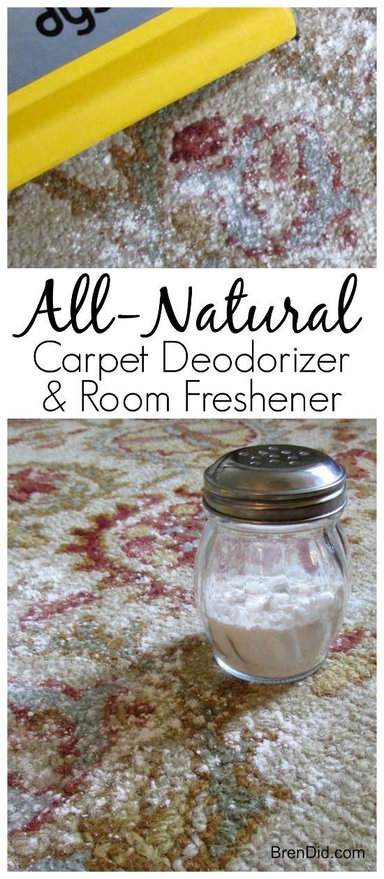 Natural Odor Eliminator, Natural Febreeze, Odor Eliminator, Vacuum Powder: Natural Carpet Deodorizer and Room Freshener eliminates odors while you vacuum. Try making a batch today.  via @brendidblog