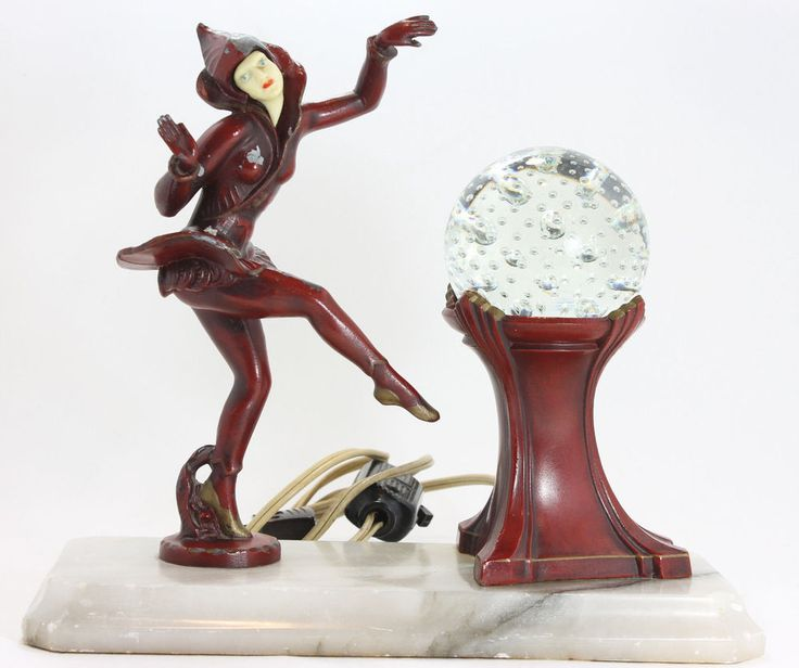 Antique J B Hirsch Gerdago Art Deco Pixie Harlequin
