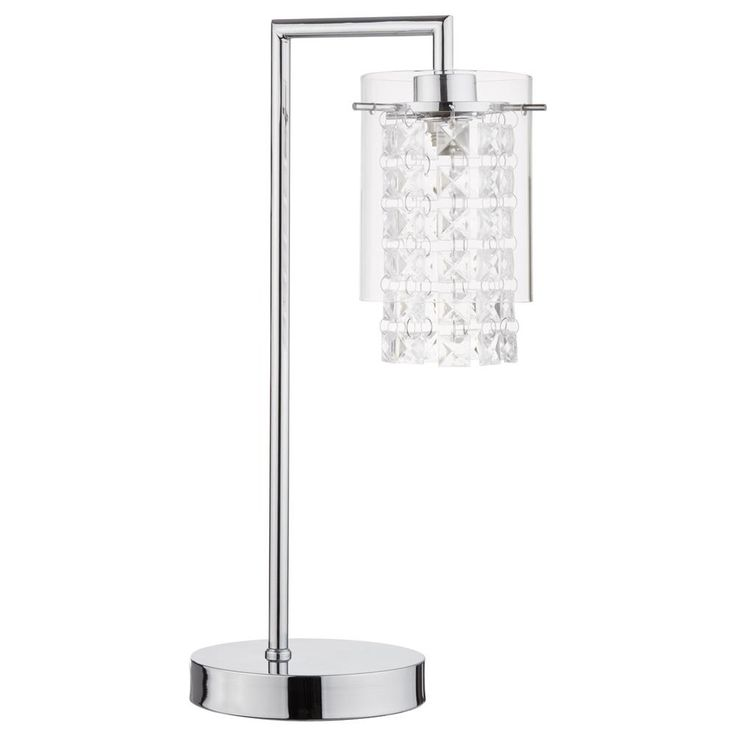 Desk lamp | Glass Shade Table Lamp with Clear Decorative Dropelets/Table Lamps/Lighting|Bouclair.com