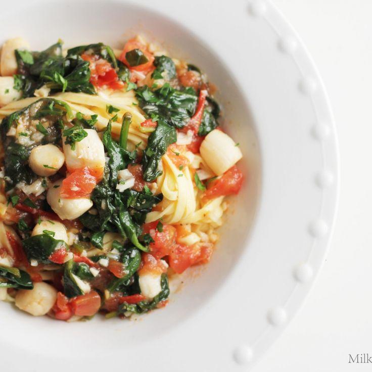 Easy bay scallop pasta recipe