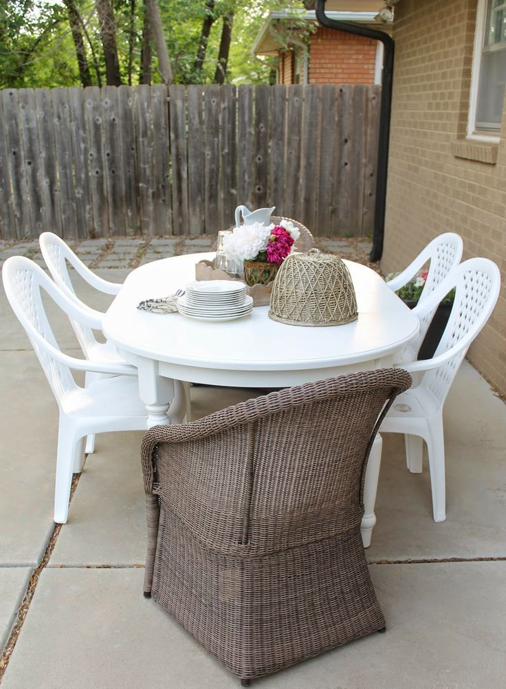 Thrifted Pottery Barn Table How To Turn Indoor Furniture Into Outdoor Furniture Patios