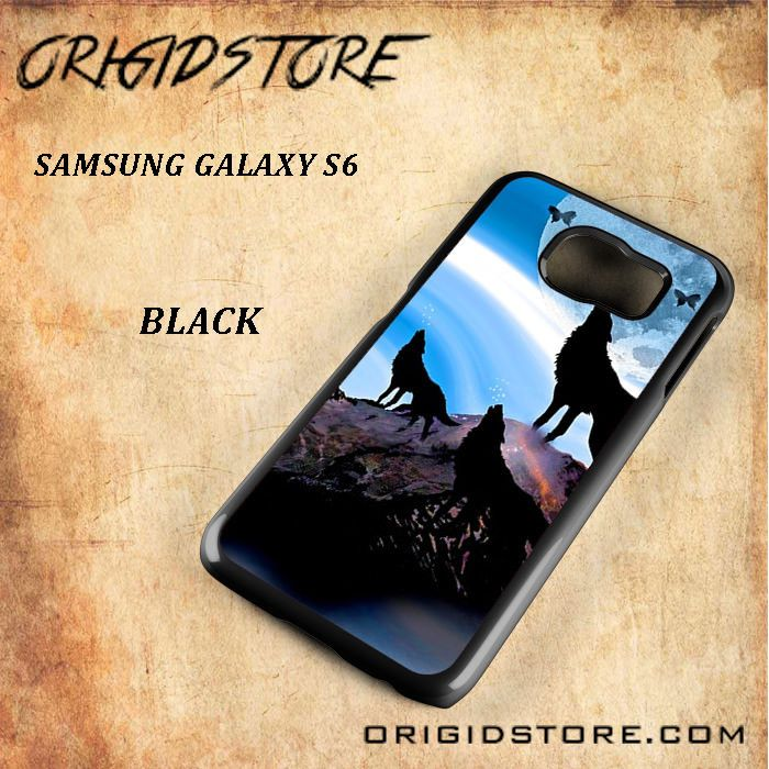 Tree Wolf And Moon Snap On Samsung Galaxy S6 Case 3D Samsung Galaxy S6 Case Transparent Case