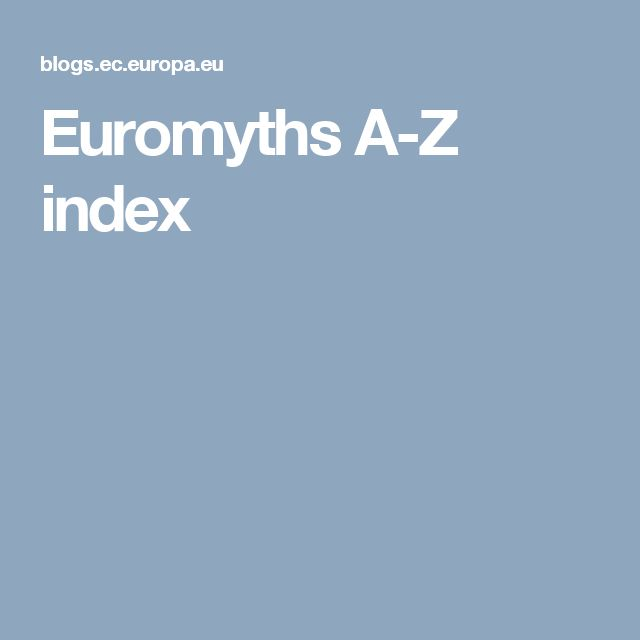 Euromyths A-Z index