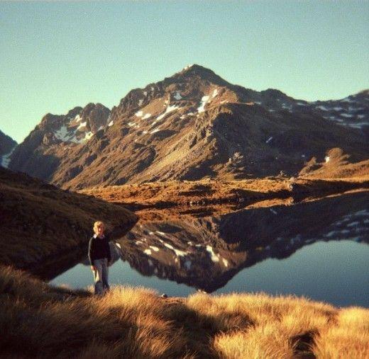 Reflection at Lake Angelus Nelson Lakes National Park.