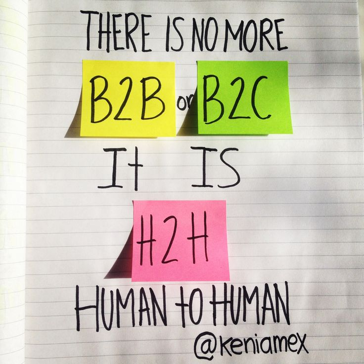There is no more #B2B or #B2C. It's #H2H: #Human to Human. #inbound #marketing #human #business #inbound2014 #digitalmarketing