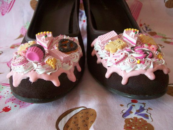 Chocolate Decoden Shoes