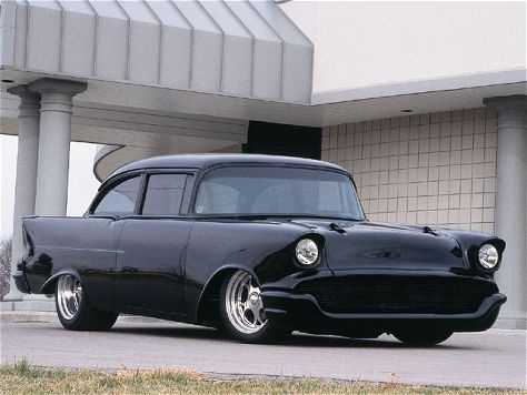 Blacked Out Customized 57 Chevy 150 Series Car Love