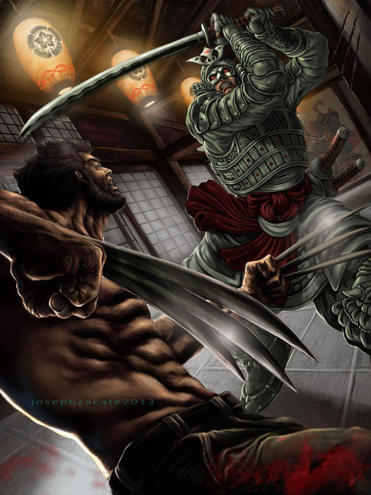 The Wolverine vs Silver Samurai by Joseph Zacate