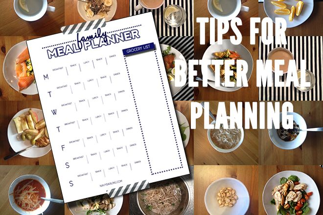 Meal Planning Tips from NavyDarling.com