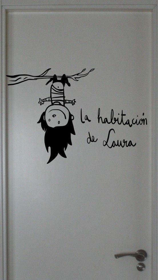 Las 25 mejores ideas sobre arte de pared de pizarra en for Vinilo habitacion chica
