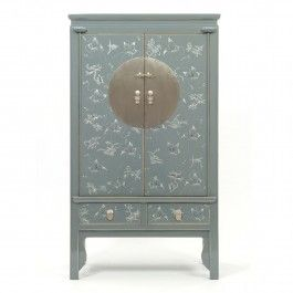 Grey+Decorated+Lacquer+Wedding+Cabinet++£2,695.00
