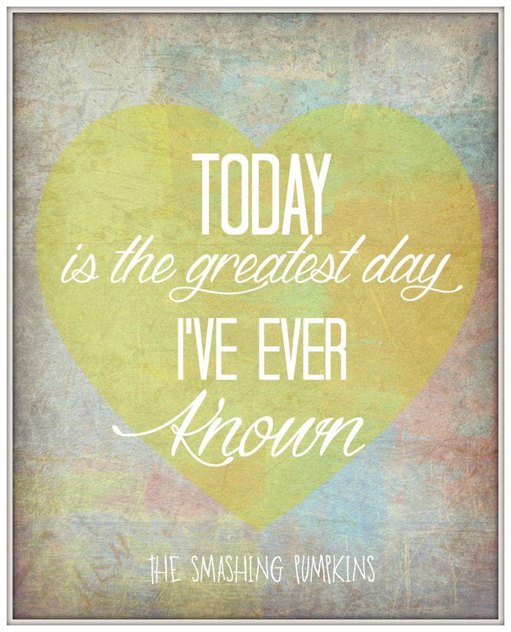 "The Smashing Pumpkins - Song Lyric Art print ""Today"" 8x10 Lyric art print Music…"