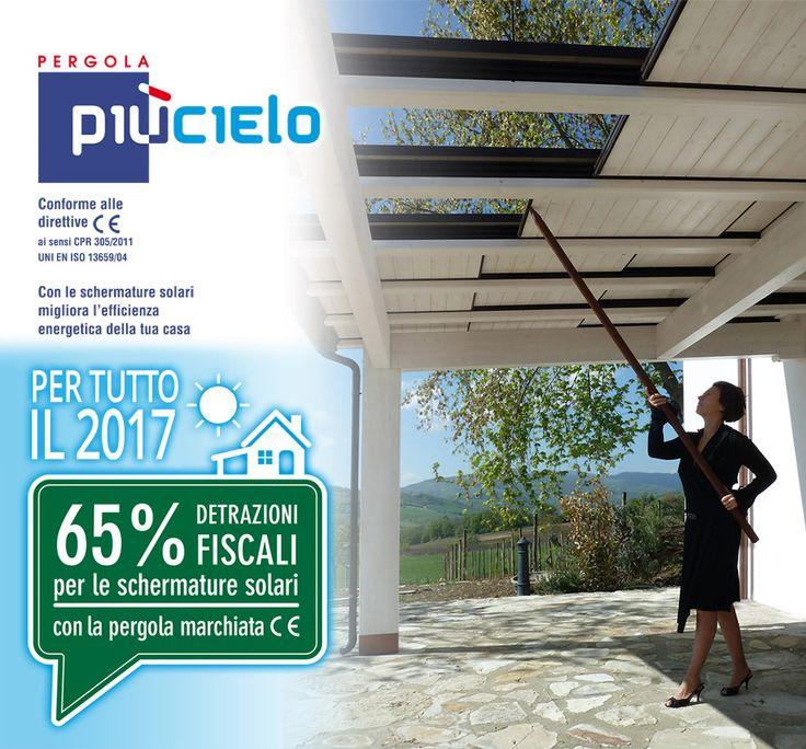 Schermature solari piùCielo con detrazione fiscale del 65%