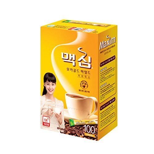 Maxim Mocha Gold Mild Korean Coffee 100Ea ** Be sure to check out this awesome product-affiliate link. #KoreanGroceries