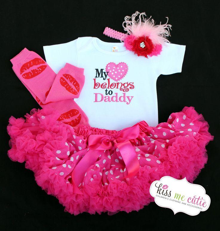 Valentine Onesie or Shirt My Heart Belongs To Daddy by KissMeCutie, $18.00