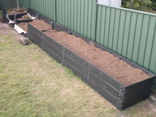 25mm eWood Sleepes made into 600mm high Garden Bed.