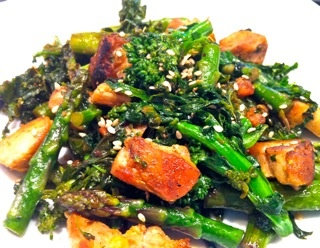 Green Stir Fry w/Broccoli Rabe, Asparagus & Chicken from The Full ...