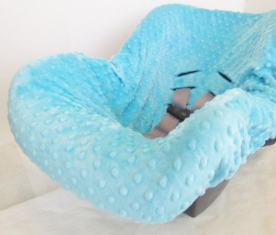 Infant Car Seat Cover liner Minky Dimple Dot by BrightEyedOwl, $40.00