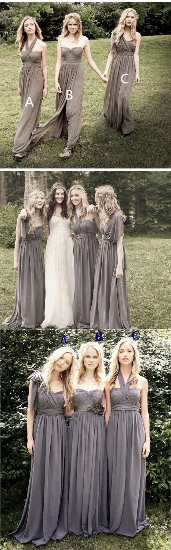 Best 25 grey bridesmaid dresses ideas on pinterest grey grey floor length breast wrapped beach style country style chiffon bridesmaid dresses bd0420 ombrellifo Choice Image